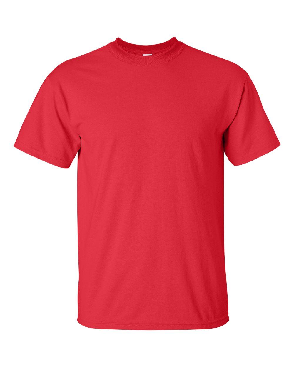 Gildan Mens Seamless Double Needle T-Shirt Texas Orange